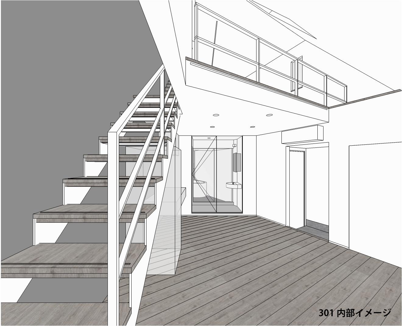 広がりと奥行きをデザインした新築賃貸