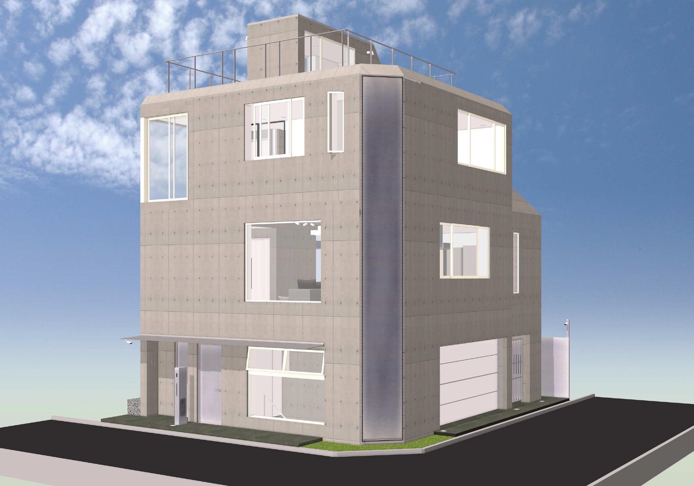 閑静な住宅街の角地に佇む新築デザイナーズ賃貸